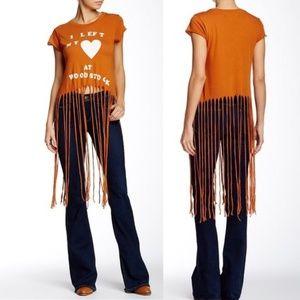 NWT Wildfox fringe I Left My Heart At Woodstock